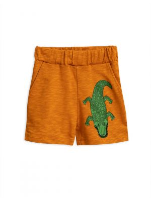 Mini Rodini Croco Sweatshorts, Brown