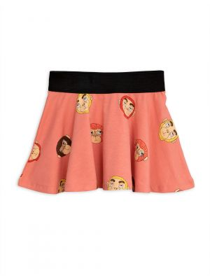Mini Rodini Monkeys Skirt, Pink