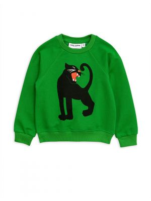 Mini Rodini Panther Sweatshirt, Green