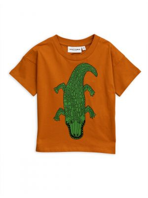 Mini Rodini Croco Tee, Brown