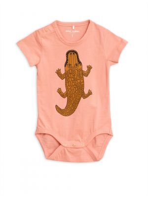 Mini Rodini Croco SS Body, Pink