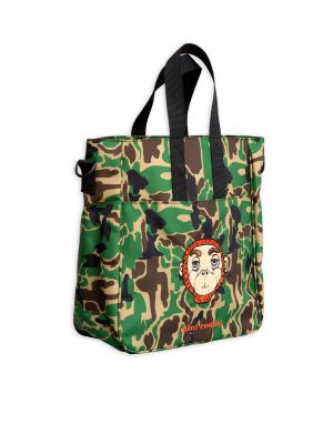 Mini Rodini Camo Gym Bag, Green