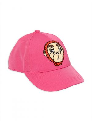 Mini Rodini Monkey Cap, Pink