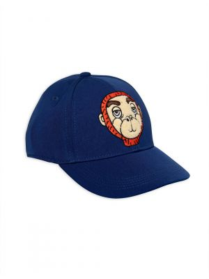 Mini Rodini Monkey Cap, Blue