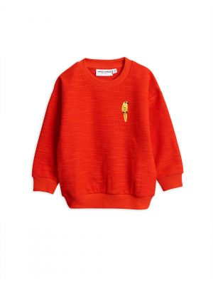 Mini Rodini  Parrot Emb Sweatshirt, Red
